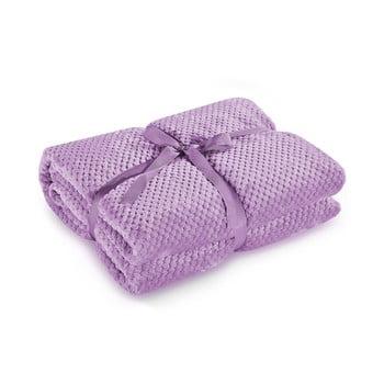 Pătură din microfibră DecoKing Henry, 170 x 210 cm, violet