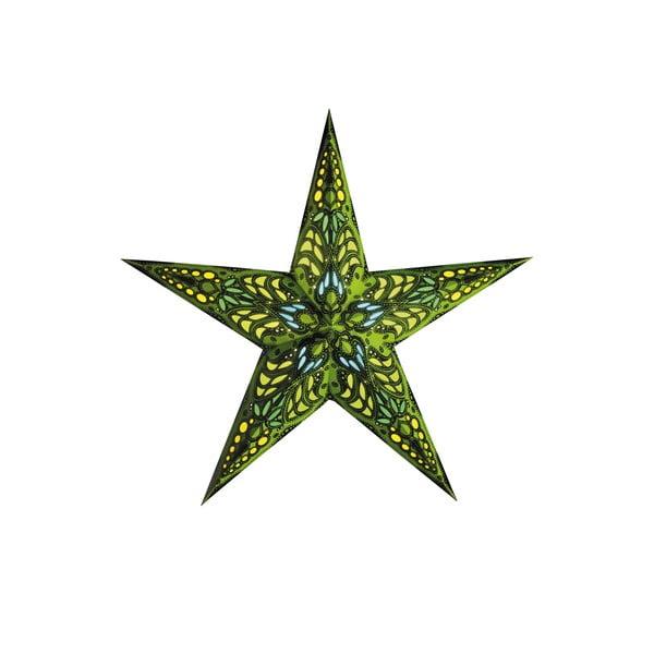 Dekorativní vánoční hvězda Mercury Green