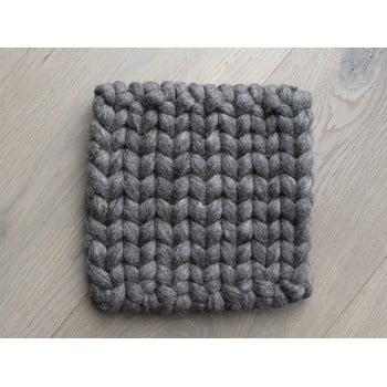 Suport țesut din lână pentru pahar/veselă Wooldot Braider Coaster, 20 x 20 cm, maro nucă