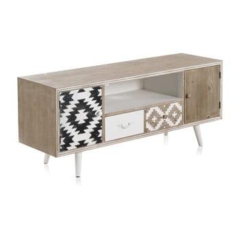 Masă TV cu detalii alb-negru și 2 sertare Geese Rustico Geometric de la Geese