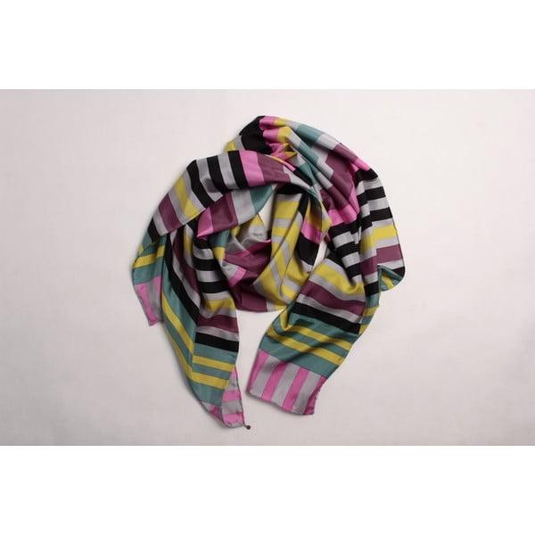 Hedvábný šátek Stripes