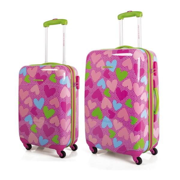 Sada 2 kufrů Agatha, růžová