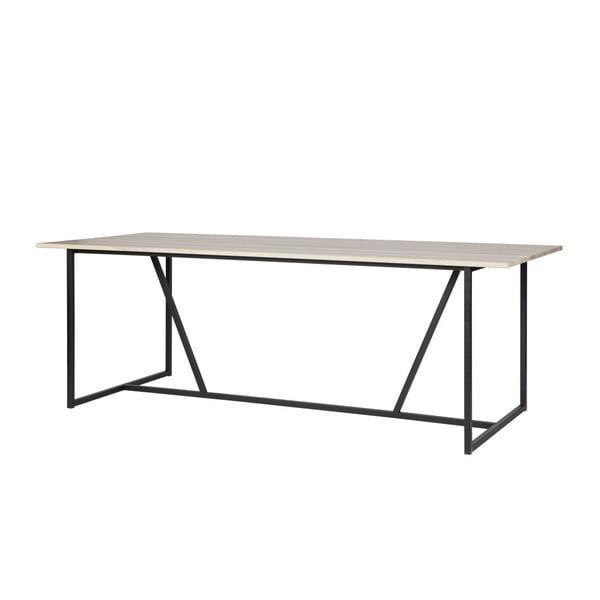 Jídelní stůl s deskou z jasanového dřeva De Eekhoorn Silas, 90x220cm