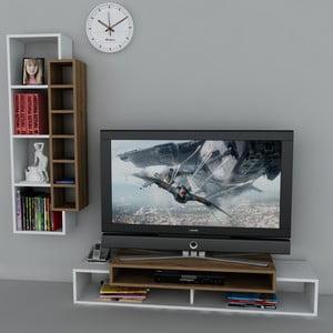 Televizní stolek First TV Stand White/Walnut