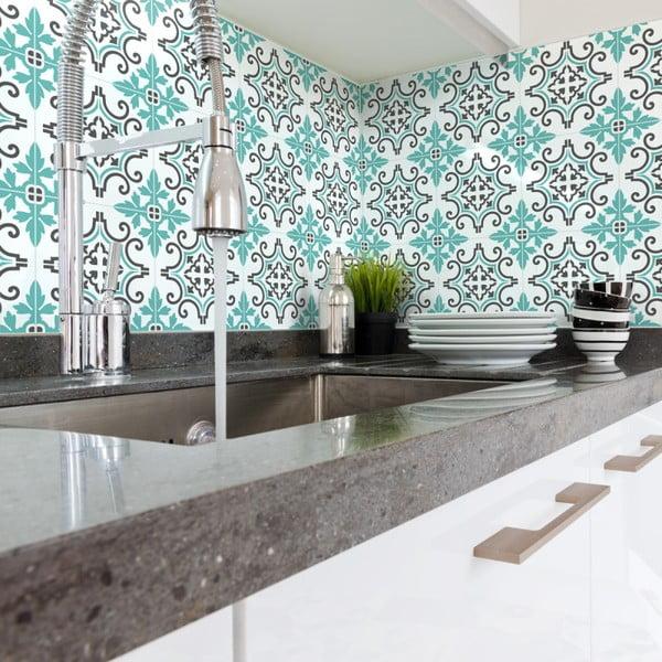 Zestaw 60 naklejek ściennych Ambiance Wall Decal Cement Tiles Paco, 20x20 cm