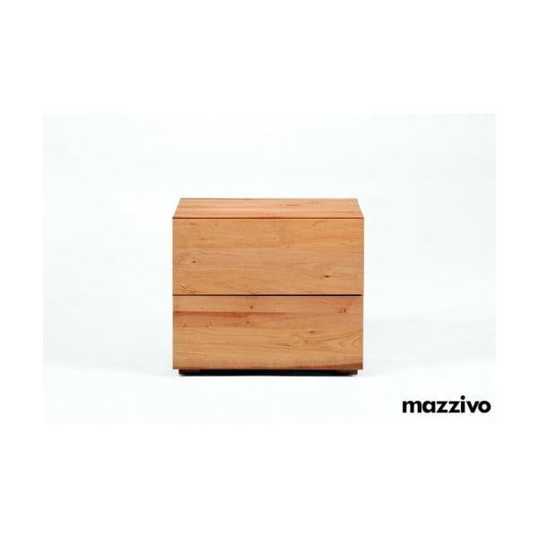 Noční stolek Borgo z olšového dřeva, natural