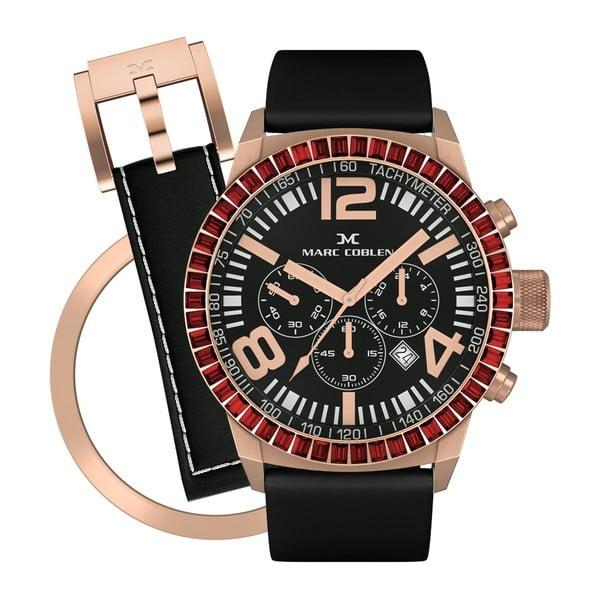 Dámské hodinky Marc Coblen s páskem a kroužkem navíc P83