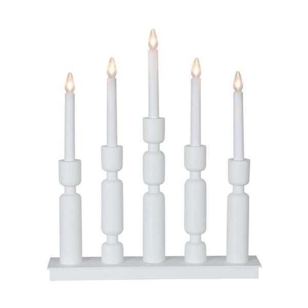 Bílý LED svícen Best Season Uddebo