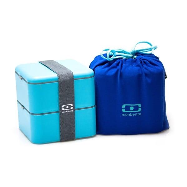 Modrý obědový box Monbento Square