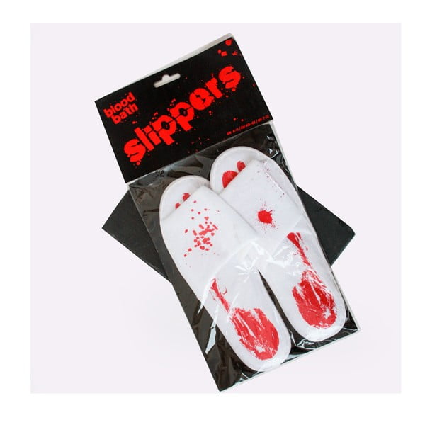 Papuci din bumbac Gift Republic Blood Slippers