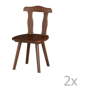 Set 2 scaune din lemn masiv de pin Interlink Aosta