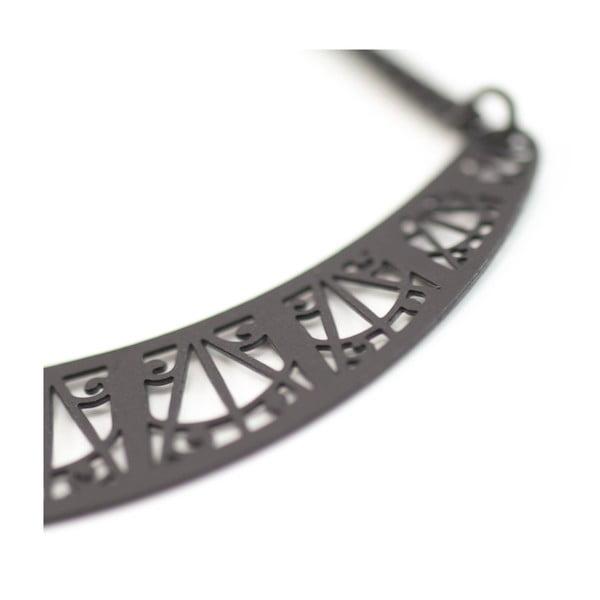 Náušnice Arch Black, 6 cm