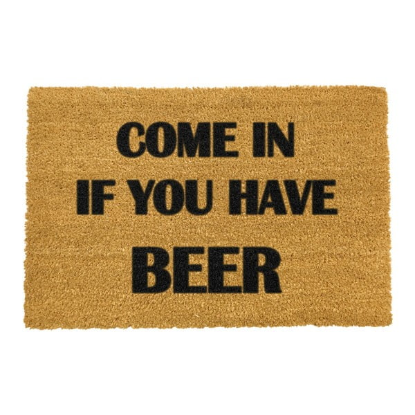 Covoraș intrare din fibre de cocos Artsy Doormats Come Again and Bring Beer, 40 x 60 cm