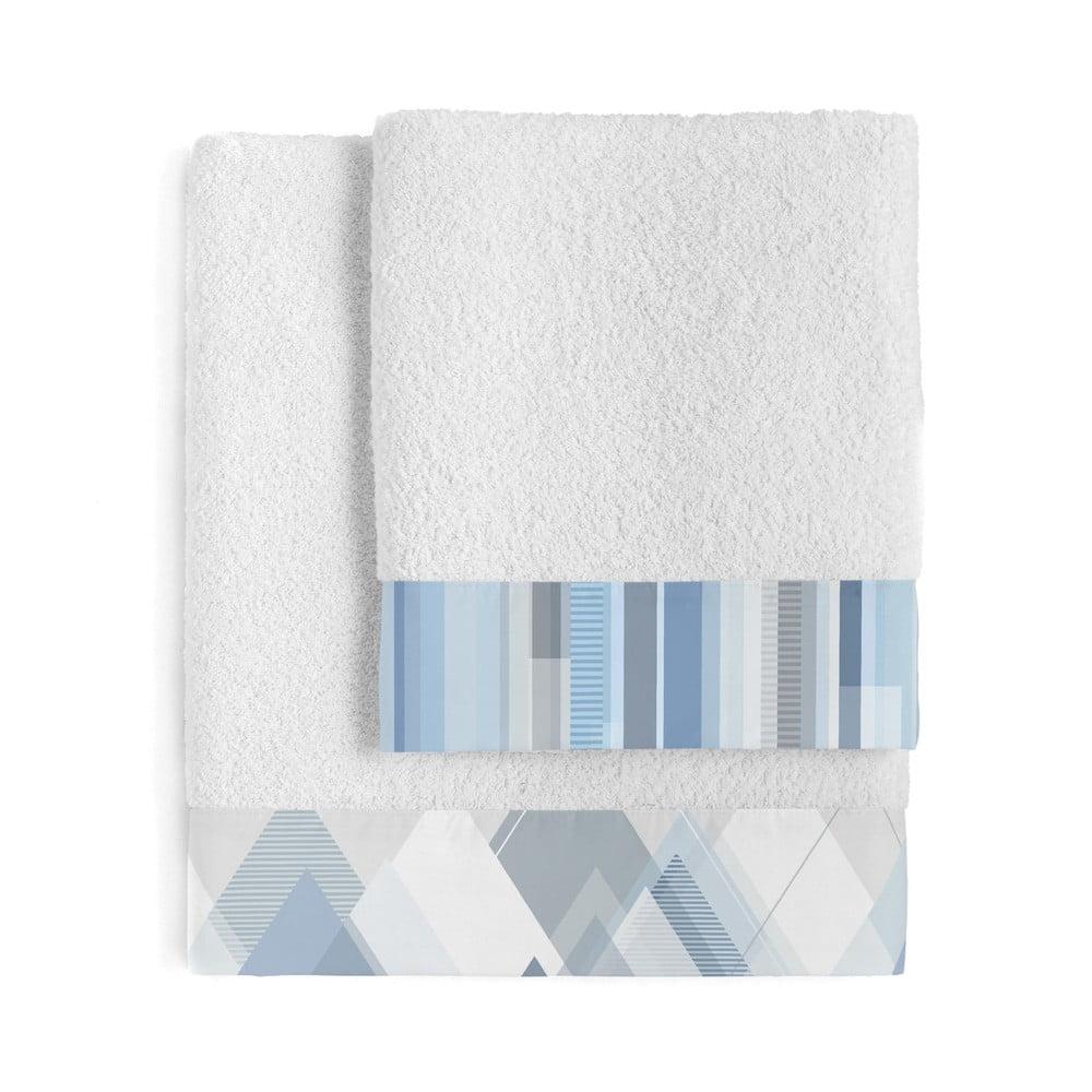 Sada 2 bavlněných ručníků Blanc Crystal