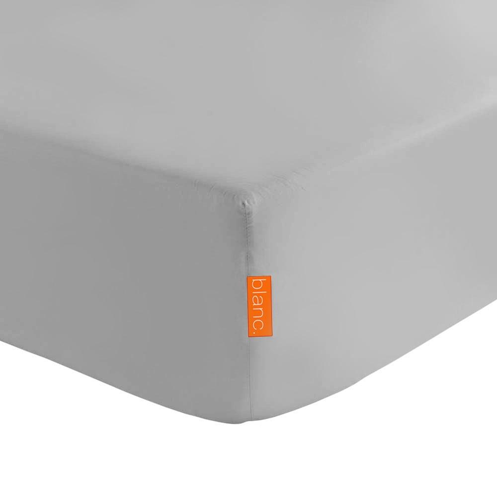 Šedé elastické prostěradlo Happynois Basic, 90x 200cm