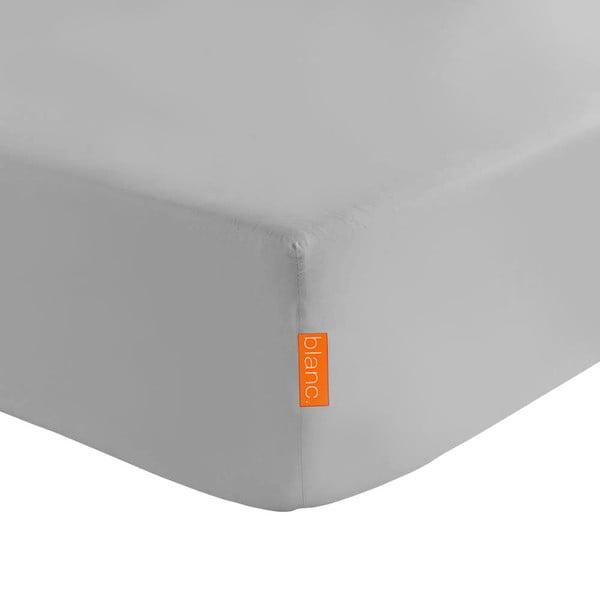 Šedé elastické prostěradlo HF Living Basic, 160x200cm