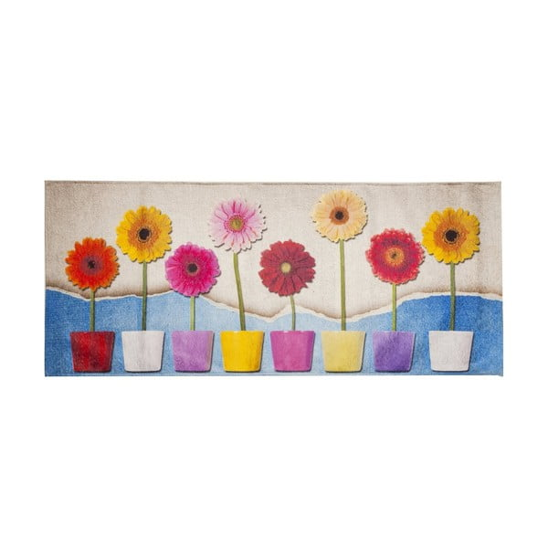 Vysoce odolný kuchyňský koberec Webtappeti Spring, 60x220 cm