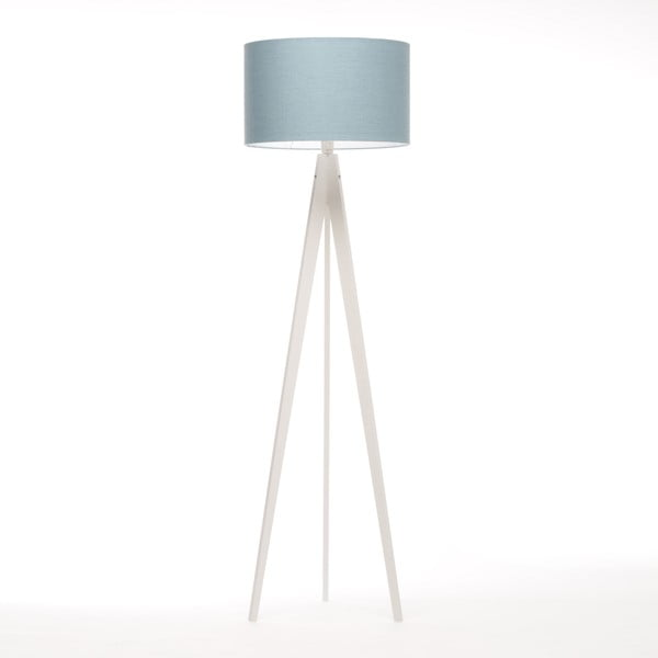 Stojací lampa Artist Light Blue Linnen/White Birch, 125x42 cm
