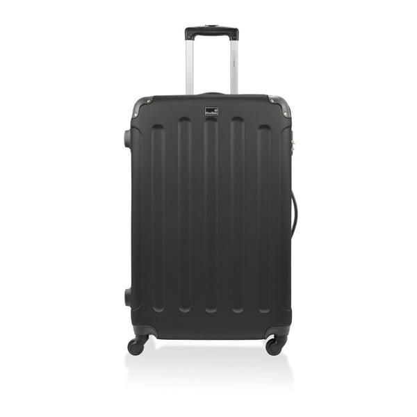 Čierny cestovný kufor nakolieskach Bluestar, 46 l