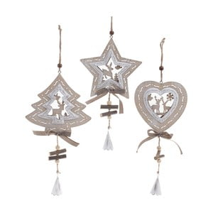 Set 3 decorațiuni de agățat InArt Ornament