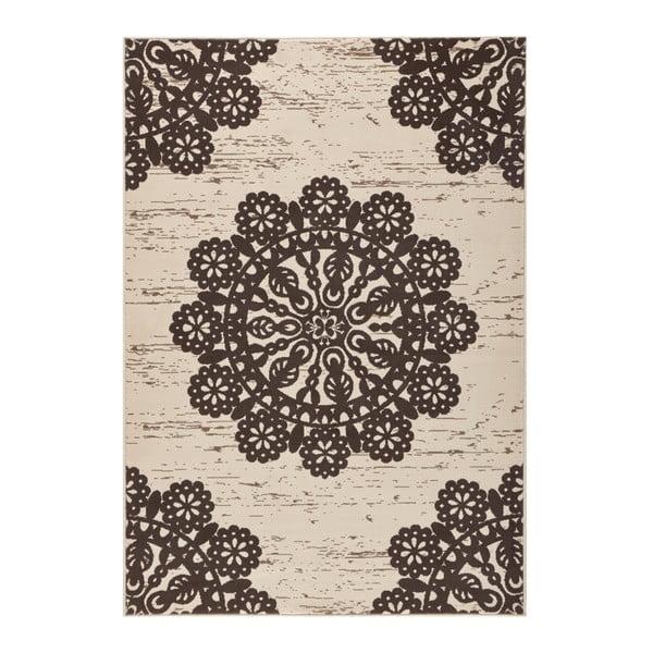 Hnědý koberec Hanse Home Gloria Lace, 200x290cm