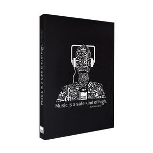 Černý zápisník Makenotes Music, A5