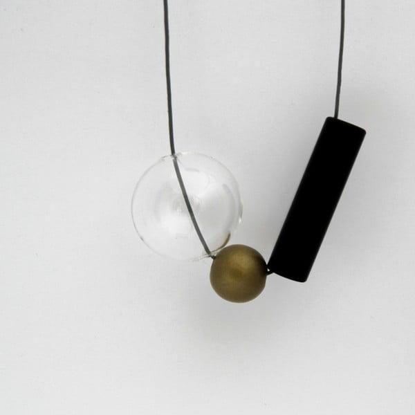 Skleněný závěsný náhrdelník Ko–ra–le GeomeTRIgold