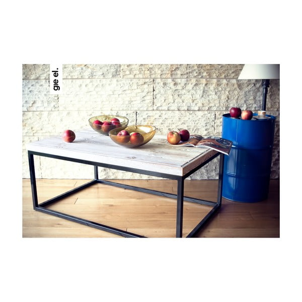 Konferenční stůl Coffee, bílé dřevo