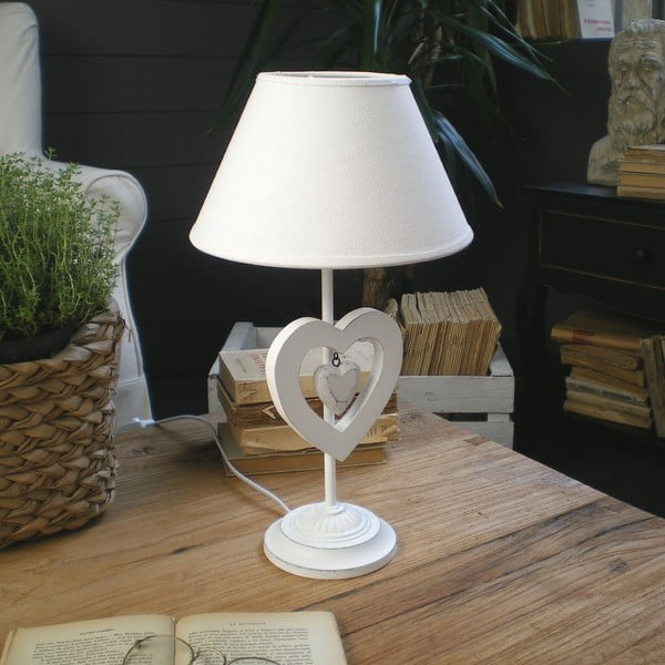 Stolní lampa White Antique, 53 cm