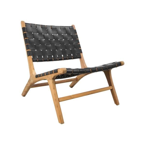 Fotel z tekowego drewna HSM collection Black