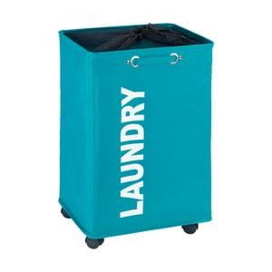 Modrý koš na prádlo Wenko Quadro, 79,2 l