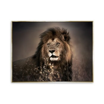 Tablou imprimat pe pânză Styler Golden Lion, 115 x 87 cm