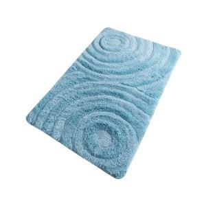Tyrkysová koupelnová předložka Confetti Bathmats Wave Turquois, 60 x 100 cm