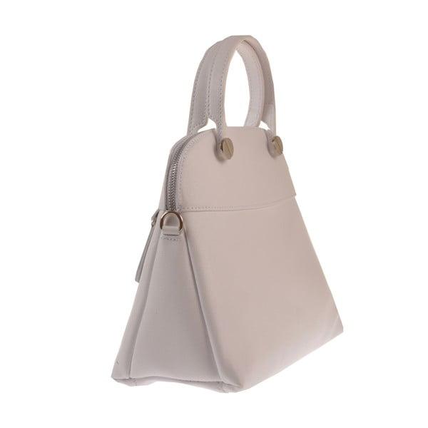 Bílá kožená kabelka Florence Bags Yutz