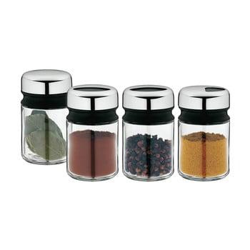 Set 4 recipiente pentru condimente din oțel inoxidabil Cromargan® WMF Depot, înălțime 9,5 cm imagine
