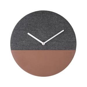 Šedo-hnědé nástěnné hodiny Karlsson Surfer, Ø 30 cm
