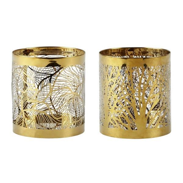 Sada 2 svícnů KJ Collection Gold Stain, 9 cm