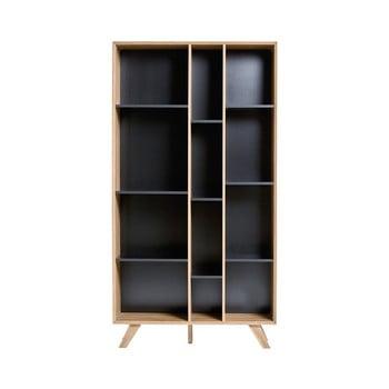 Bibliotecă cu detalii negre Marckeric Tivoli, 98 x 184 cm