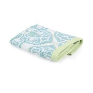 Tyrkysovo-bílý bavlněný ručník Atmosphere,33x31cm