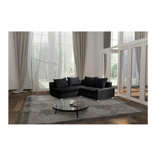 Černá sedačka Interieur De Famille Paris Aventure, levý roh