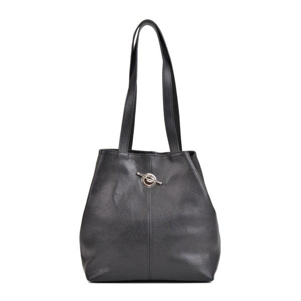 Geantă din piele Mangotti Bags Alma, negru