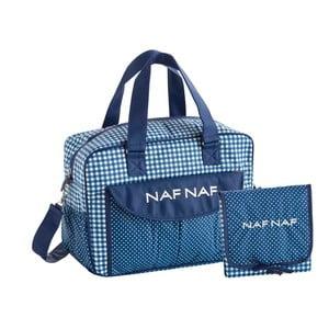 Set modré tašky na kočárek a přebalovací podložky Naf Naf Vichy