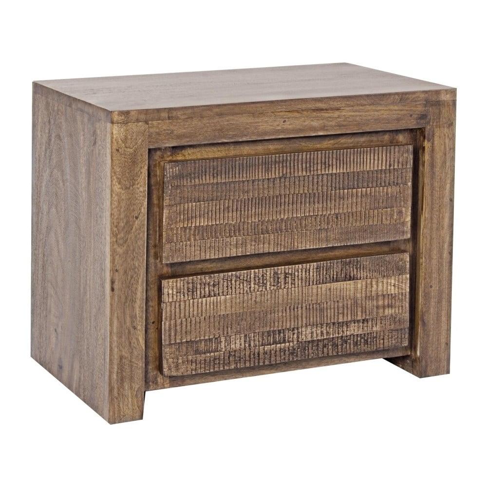 Noční stolek z mangového dřeva Bizzotto Jamila