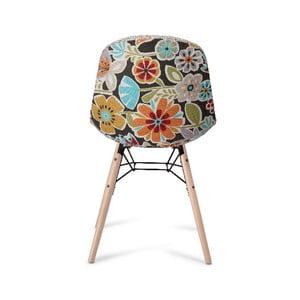 Scaun cu picioare din lemn de fag Furnhouse Sun, bej