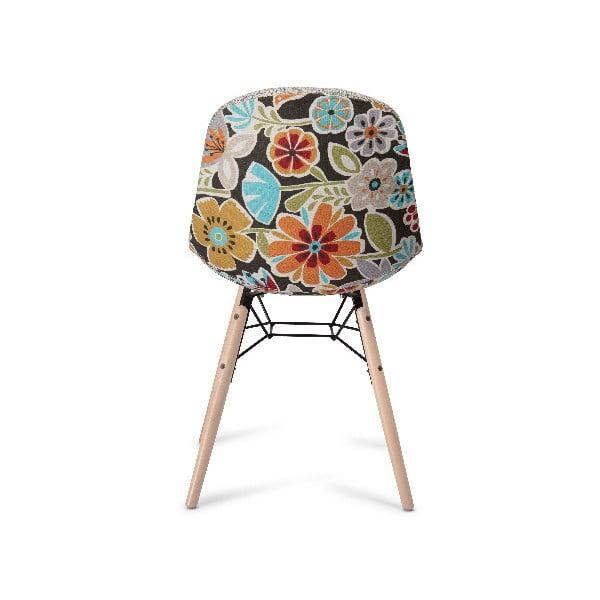 Béžová jedálenská stolička s nohami z bukového dreva Furnhouse Sun