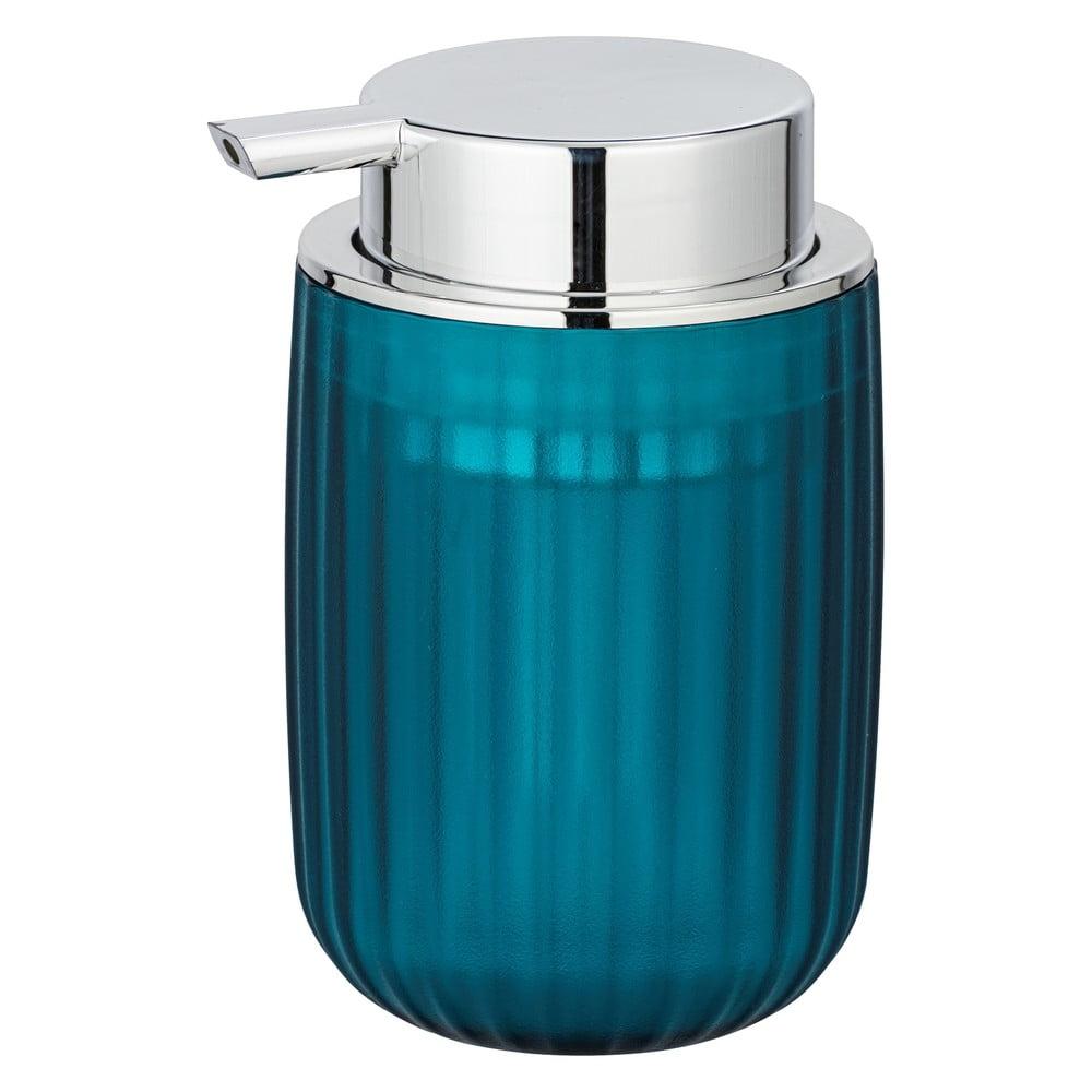 Produktové foto Petrolejově modrý dávkovač mýdla Wenko Agropoli Frost, 250ml