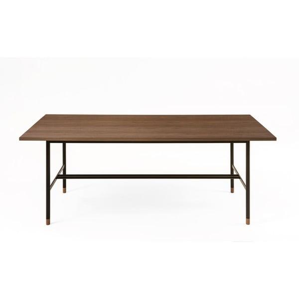 Jedálenský stôl v orechovom dekore Woodman Jugend