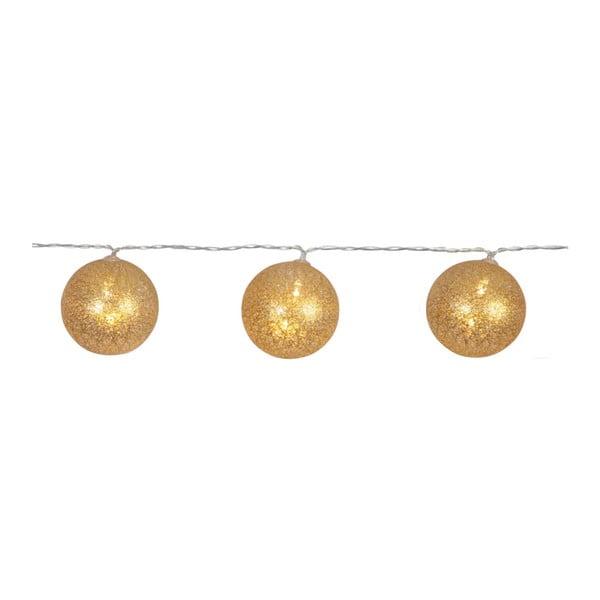 Zlatý světelný LED řetěz Best Season Jolly Lights, 10 světýlek