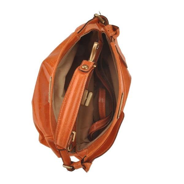 Kožená kabelka Electra, koňaková