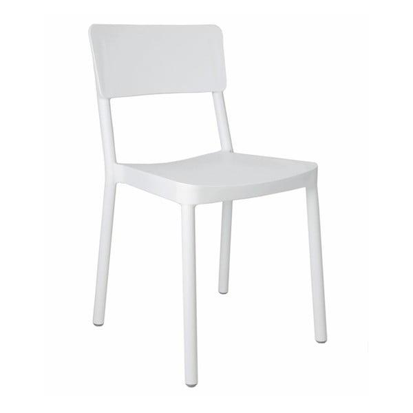 Sada 2 bílých zahradních židlí Resol Lisboa